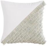 One Kings Lane Mila 20x20 Outdoor Pillow - White/Mint