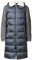 Tim Coppens panelled padded coat
