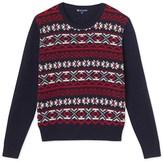 Petit Bateau Womens jacquard wool and cotton sweater