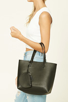 Forever 21 FOREVER 21+ Faux Leather Tote Bag