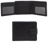 Jeff Banks Black Leather Foldout Pass Wallet
