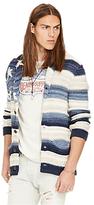 Denim & Supply Ralph Lauren Classic Usa Shawl Collar Cardigan, Blue