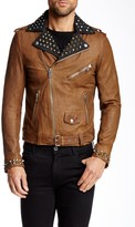 Diesel Ulisses Genuine Leather Studded Jacket