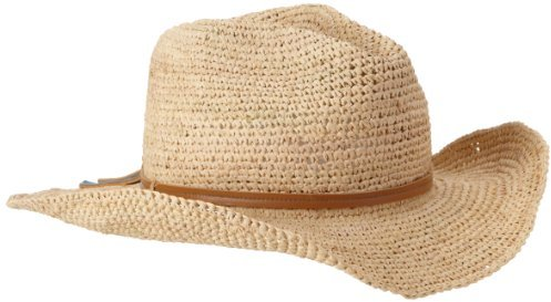 Hat Attack Women's Raffia Crochet Continental Straw Hat
