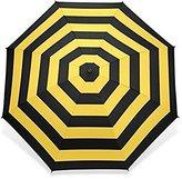 Rainy Day Custom Black Yellow Stripe Foldable Rain Sun Umbrella 8 Ribs Travel Umbrella