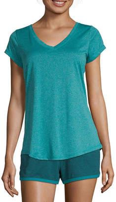 Xersion Petite-Womens V Neck Short Sleeve T-Shirt