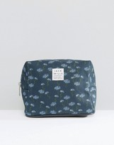 Jack Wills Navy Floral Makeup Bag