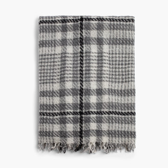James Perse SARTI CASHMERE WOOL PLAID SCARF