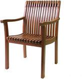 OUTDOOR INTERIORS Outdoor Interiors Venetian Deluxe Arm Chair in Eucalyptus