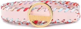 Emilio Pucci Whipstitched Leather Belt