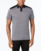 Alfani Men's Big and Tall Slim-Fit Geometric Print Polo, Only at Macy's