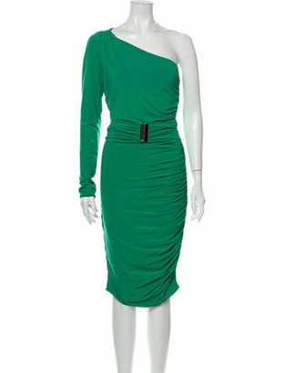 Emilio Pucci One-Shoulder Knee-Length Dress Green