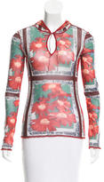 Jean Paul Gaultier Floral Print Hooded Top