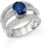 Bloomingdale's Sapphire and Diamond Multi Row Band in 14K White Gold