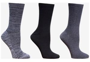 Cuddl Duds Women's 3-Pk. Space-Dyed Crew Socks