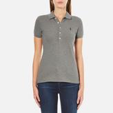 Polo Ralph Lauren Women's Julie Polo Shirt Soft Flanel Heather