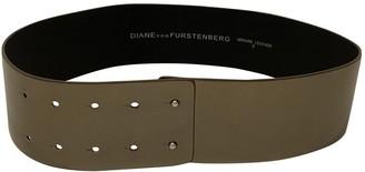 Diane von Furstenberg Gold Leather Belts