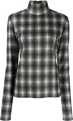 Nina Ricci checked mock neck sweatshirt