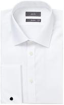 John Lewis Non Iron Twill Double Cuff Slim Fit Shirt, White