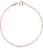 Catbird - Tiny Corsage 14-karat Rose Gold Diamond Bracelet - one size