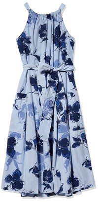 Julian Taylor Women's Sleeveless Side Tie Floral Print Dress