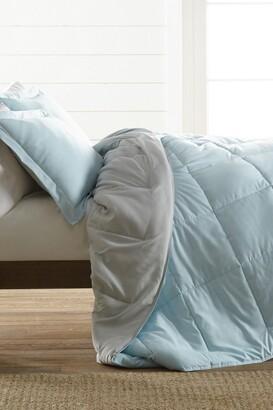 IENJOY HOME Treat Yourself To The Ultimate Down Alternative Reversible 3-Piece Comforter Set - Aqua - Queen