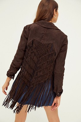 We The Free This Way Suede Fringe Jacket