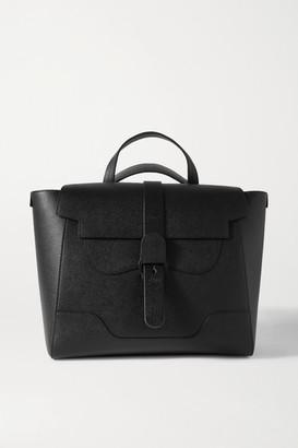 Senreve Maestra Convertible Textured-leather Shoulder Bag - Black