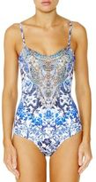 Camilla Chinese Whispers Bandeau One-Piece Swimsuit