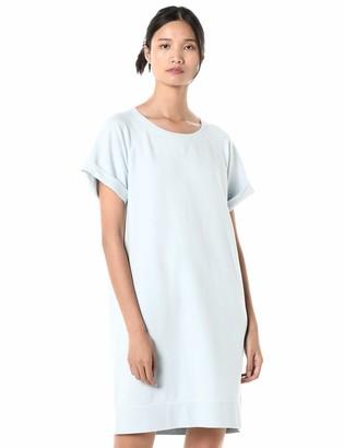 Goodthreads Amazon Brand Women's Relaxed Fit Modal Fleece Short Roll-Sleeve Sweatshirt Dress