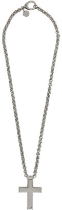 Givenchy Silver Thick 2G Cross Necklace