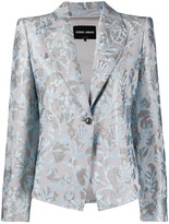 Giorgio Armani floral print single-breasted blazer