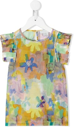 Stella McCartney Kids abstract floral print T-shirt