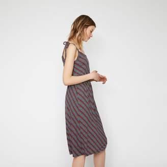Warehouse KUTA STRIPE TIE SHOULDER DRESS