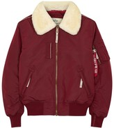 Alpha Industries Injector Iii Shearling-trimmed Jacket