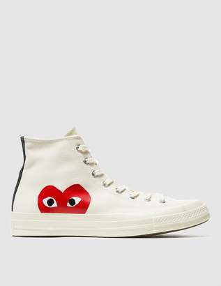 Comme des Garcons Play Converse Chuck Taylor High in Beige