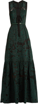Elie Saab Tie-front fil coupé gown
