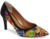 J. Renee Camall Embroidered Pointy Toe Pump (Women)