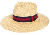 BP Women's Heritage Wide Brim Straw Hat - Beige