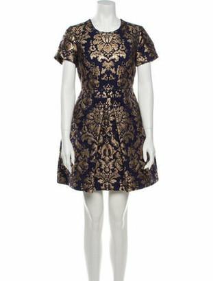 P.A.R.O.S.H. Printed Mini Dress Blue Printed Mini Dress