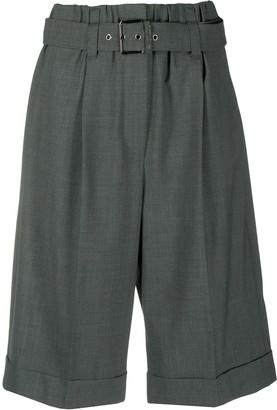 Brunello Cucinelli Belted Knee-Length Shorts