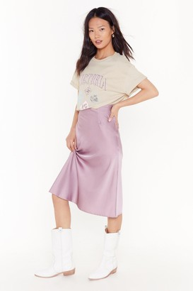 Nasty Gal Slip Into It Satin Midi Skirt