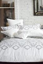 Melange Home Brocade Duvet Set - White/Grey