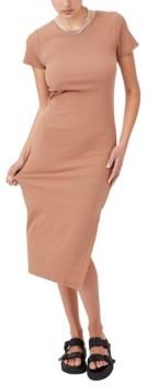 Cotton On Women's Essential Split Short Sleeve Midi Dress