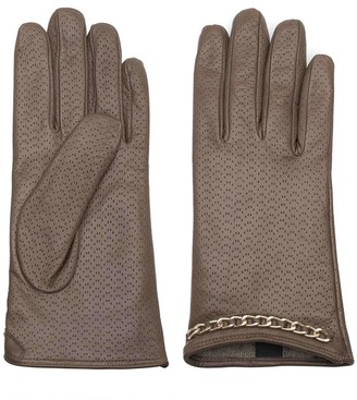 Dalgado Handmade Nappa Leather Gloves Brown Azzurra