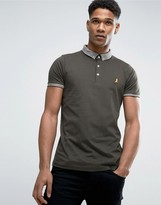 Brave Soul Polo Shirt with Jacquard Collar
