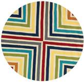 Loloi Rugs Palm Springs Hand-Hooked Indoor/Outdoor Round Striped Rug