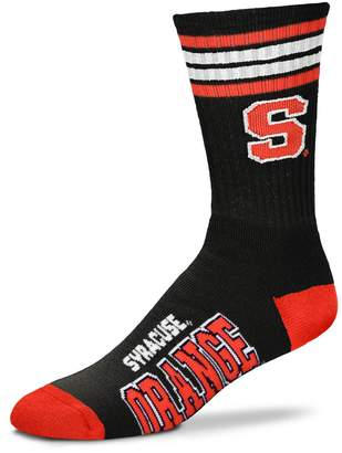 For Bare Feet Adult Syracuse Orange Deuce Black Crew Socks