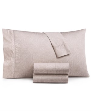 Hotel Collection Closeout! Etched Block King Sheet Set, Created for Macy's Bedding