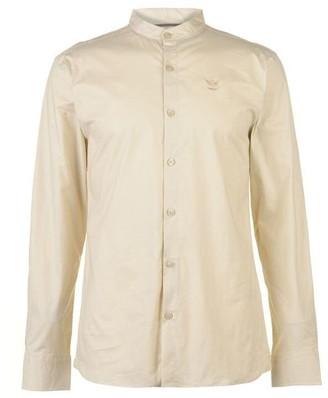 Firetrap Long Sleeve Grandad Shirt Mens